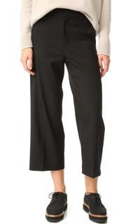 Укороченные широкие брюки с высокой талией Vince