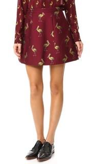 Структурированная юбка-трапеция Loran Alice + Olivia