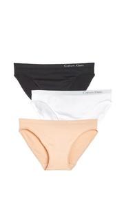 Набор Pure из трех бесшовных трусиков-бикини Calvin Klein