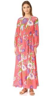 Длинное платье с округлым вырезом и длинными рукавами Diane von Furstenberg