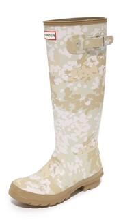 Оригинальные высокие камуфляжные сапоги Hunter Boots