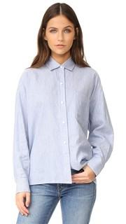 Укороченная рубашка с длинными рукавами Vince