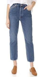 Прямые укороченные джинсы Riley с высокой посадкой Agolde