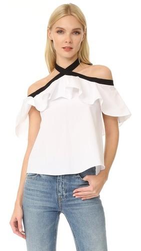 Блуза Alyssa с открытыми плечами и американской проймой