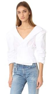 Блуза с запахом и V-образным вырезом Jacquemus