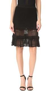 Ажурная многослойная юбка с оборками Jonathan Simkhai