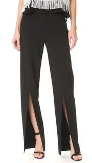 Эластичные коктейльные брюки с разрезом спереди Jonathan Simkhai