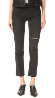 Прямые джинсы Jacqueline с необработанным нижним краем Paige