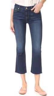 Укороченные буткат-джинсы с необработанным краем 7 For All Mankind