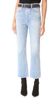 Укороченные расклешенные джинсы Taylor Kick Agolde