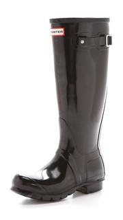 Оригинальные высокие глянцевые сапоги Hunter Boots