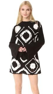 Ажурное платье с квадратным вырезом McQ Alexander Mc Queen
