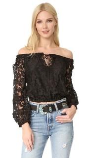 Укороченная блуза с открытыми плечами Temptation Positano