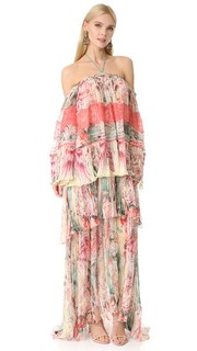 Макси-платье с открытым плечом Roberto Cavalli