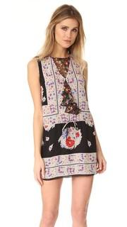Платье с цветочным принтом в стиле платка Anna Sui