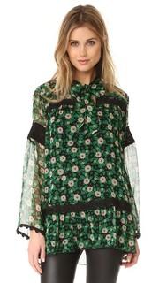 Блуза с принтом в виде принтом Starry Flower Anna Sui