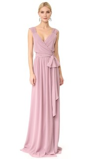 Платье Newbury с запахом и короткими рукавами Joanna August