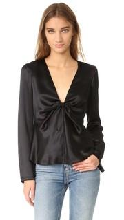 Блуза с завязками на узел T by Alexander Wang