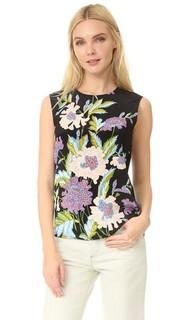 Блуза без рукавов с цветочным принтом Diane von Furstenberg