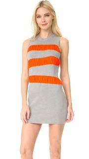 Платье в полоску с оборками MM6