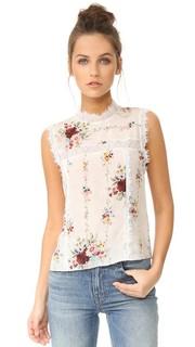 Комбинированная блуза без рукавов Jonie Lac Alice + Olivia