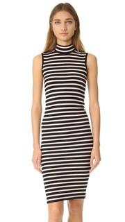 Платье без рукавов в полоску из модала в рубчик ATM Anthony Thomas Melillo