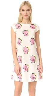 Платье с принтом и короткими рукавами Boutique Moschino
