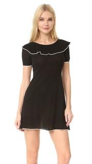 Платье с короткими рукавами и вырезом «лодочкой» Boutique Moschino