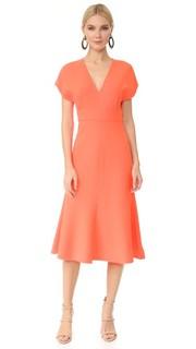 Платье с расклешенной юбкой Lela Rose
