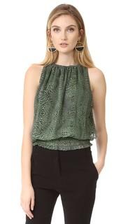 Блуза без рукавов Lauren с леопардовым принтом Ramy Brook