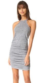 Платье с завязками уздечкой и сборками Lanston