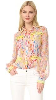 Блуза из жатой ткани Jason Wu