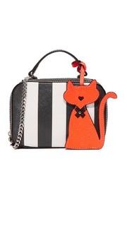 Маленькая сумка-портфель из сафьяновой кожи в полоску Milly