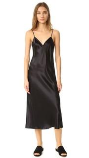Платье-комбинация с V-образным вырезом Vince
