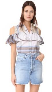 Рубашка с открытыми плечами и оборками Sea