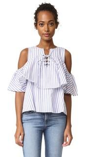 Блуза в полоску со шнуровкой J.O.A.