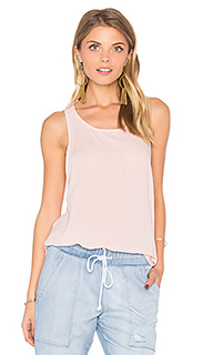 Ruffle hem tank in tiki stripe wash - Bella Dahl