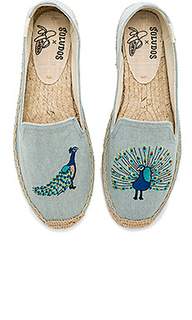 Peacock smoking slipper - Soludos