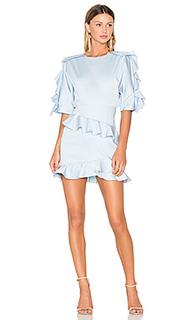 Приталенное и расклешенное мини платье - FAME AND PARTNERS