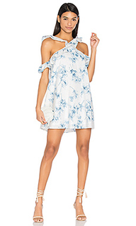 Flower print cold shoulder dress - J.O.A.