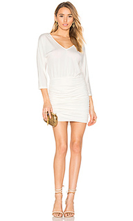 Black luxe jersey ruched mini dress - Bobi