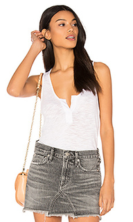 Cotton slub v neck tank - Bobi