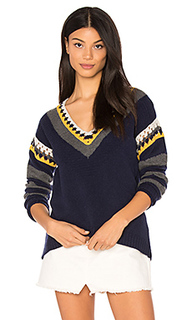 Crochet v neck sweater - SHAE