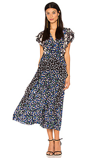 Short sleeve patch print dress - Rebecca Taylor
