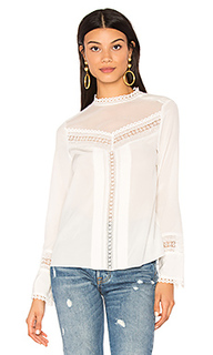 Long sleeve lace silk top - Rebecca Taylor