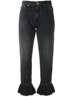 укороченные джинсы с оборками MSGM
