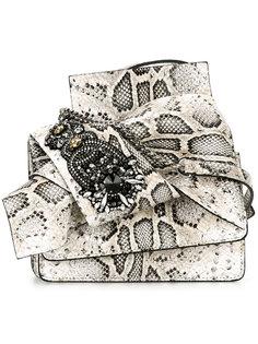 сумка с эффектом змеиной кожи Nº21