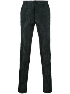 жаккардовые костюмные брюки Christian Pellizzari