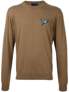 джемпер с вышитой птицей Lanvin
