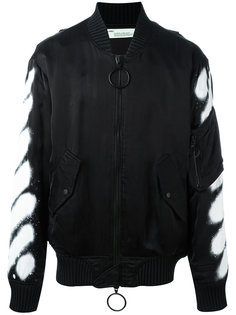 куртка бомбер с принтом разбрызганной краски Off-White